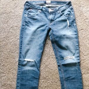 Hudson - Cuffed, Skinny Jeans